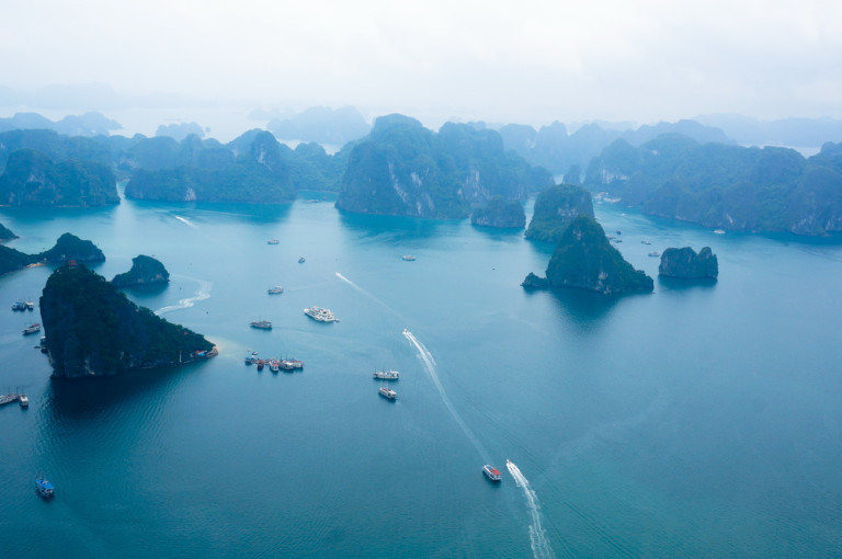 Ha Long Bay View from helicopter