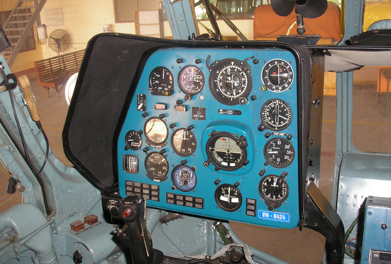 Cabin of helicopter MI172