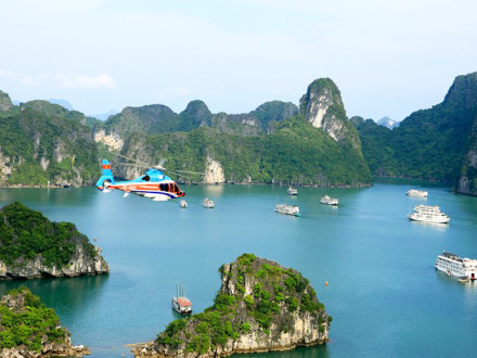 Helicopter EC155B1 to Halong Bay