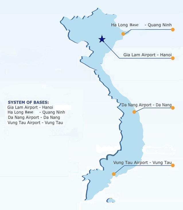 vietnam helicopter bases map