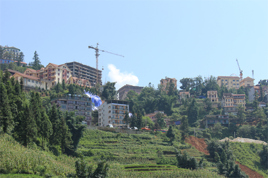 Several new hotels are underconstruction in Sapa Town