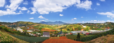 dalat panorama view
