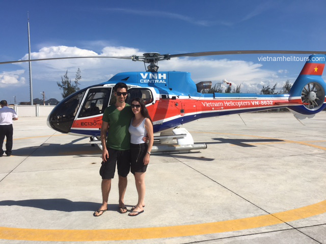 wedding proposal by helicopter