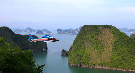 helicopter to halong