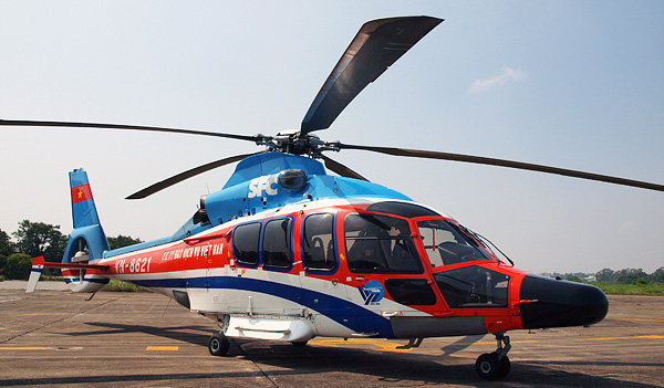 Helicopter EC155B1 for flight Hanoi - Halong Bay