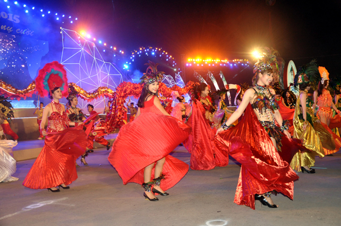 Colorful Halong Carnival in Quang Ninh Vietnam